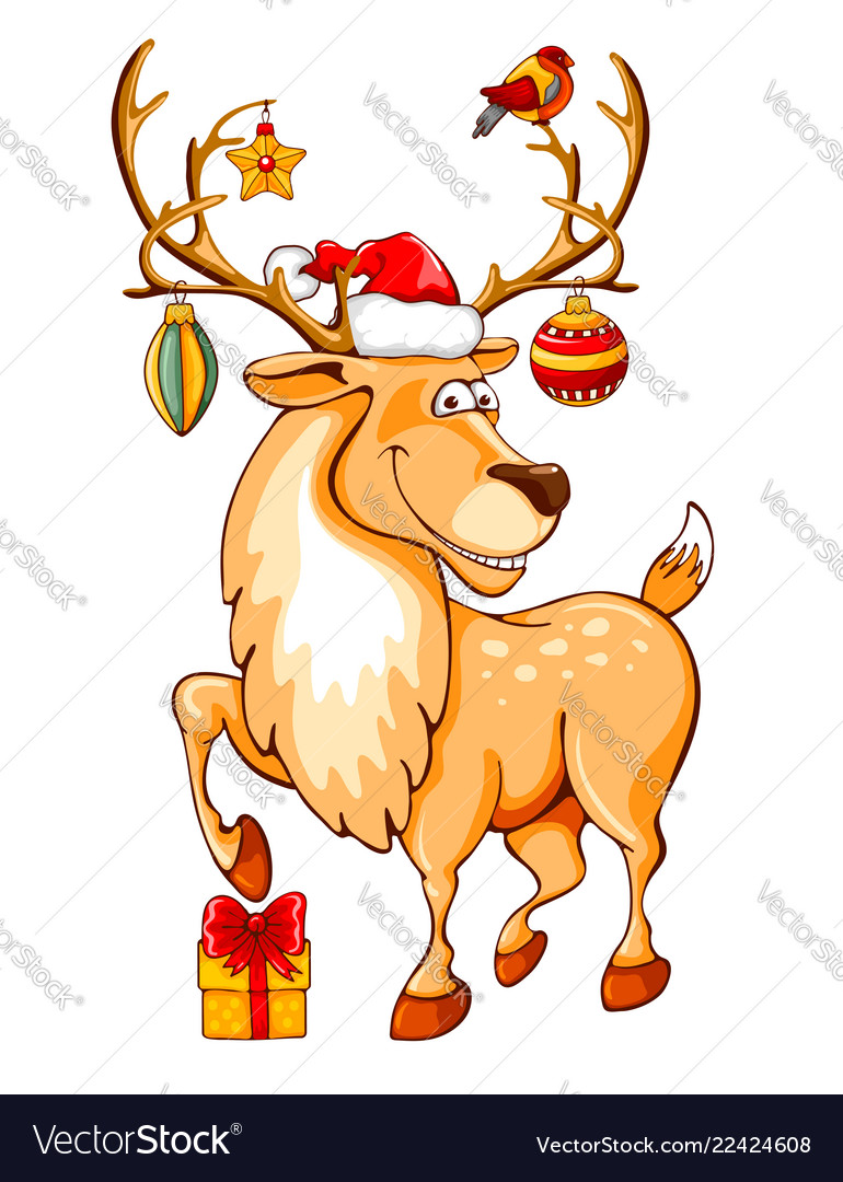 Christmas Cartoon Reindeers Pictandpicture Org