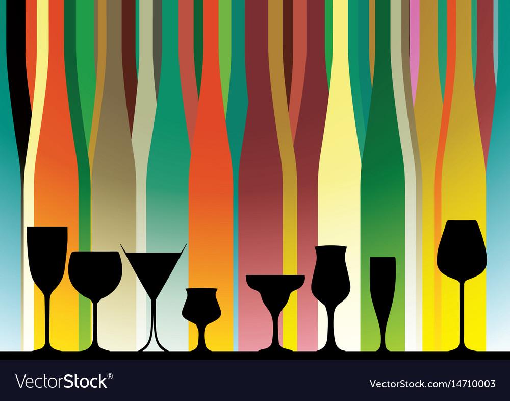 Alcoholic bar menu color