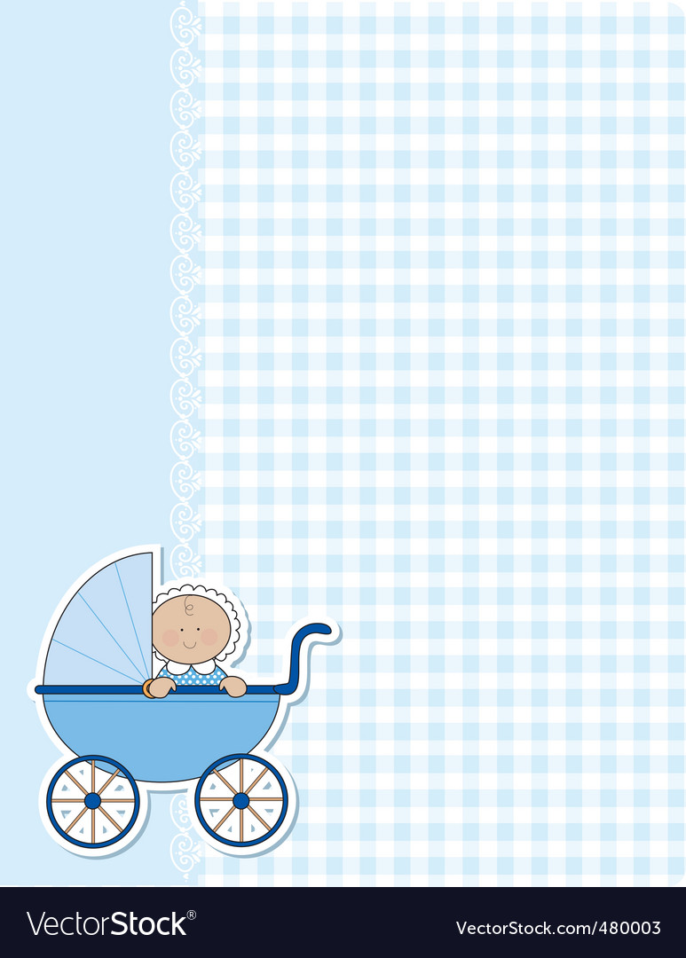 Baby boy background vector image