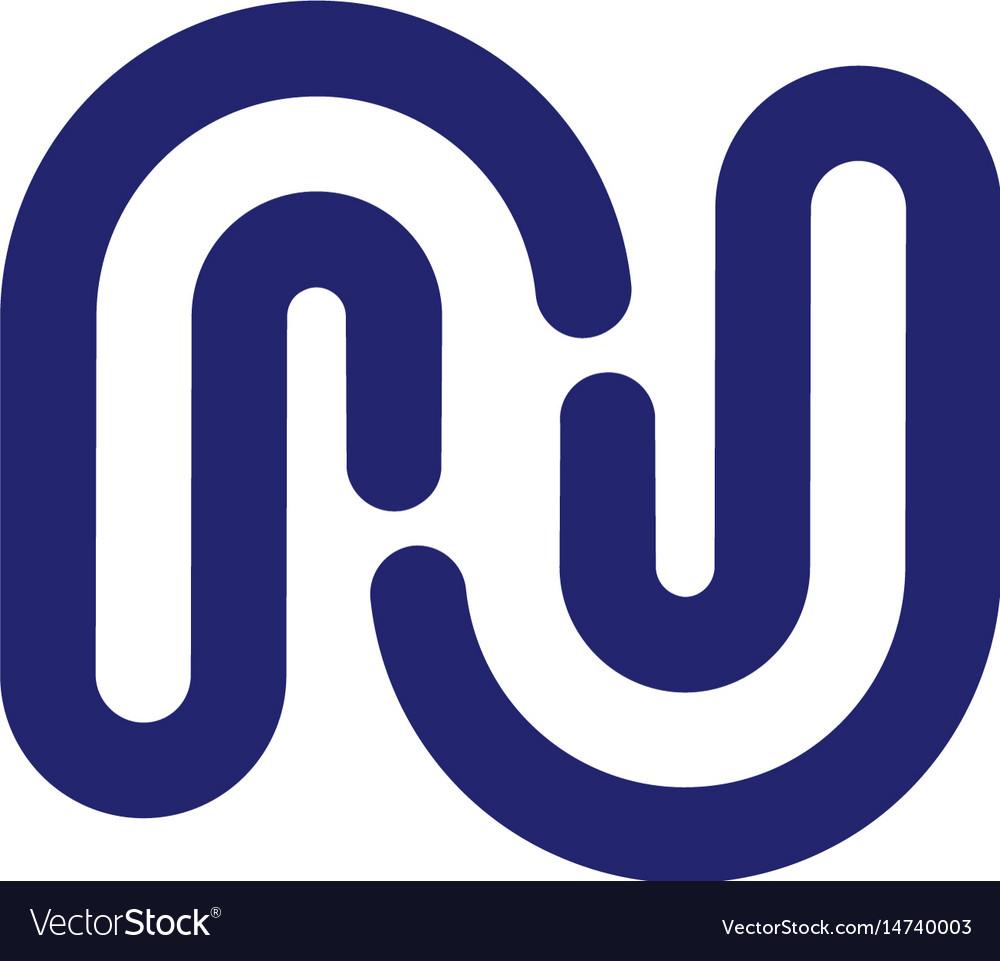 Letter Rj N Logo Design Vector Image