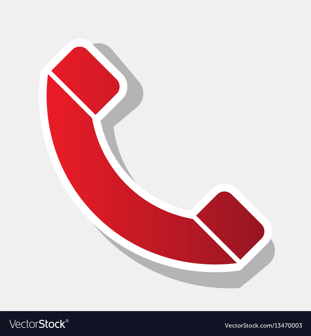 Phone sign new year reddish vector image