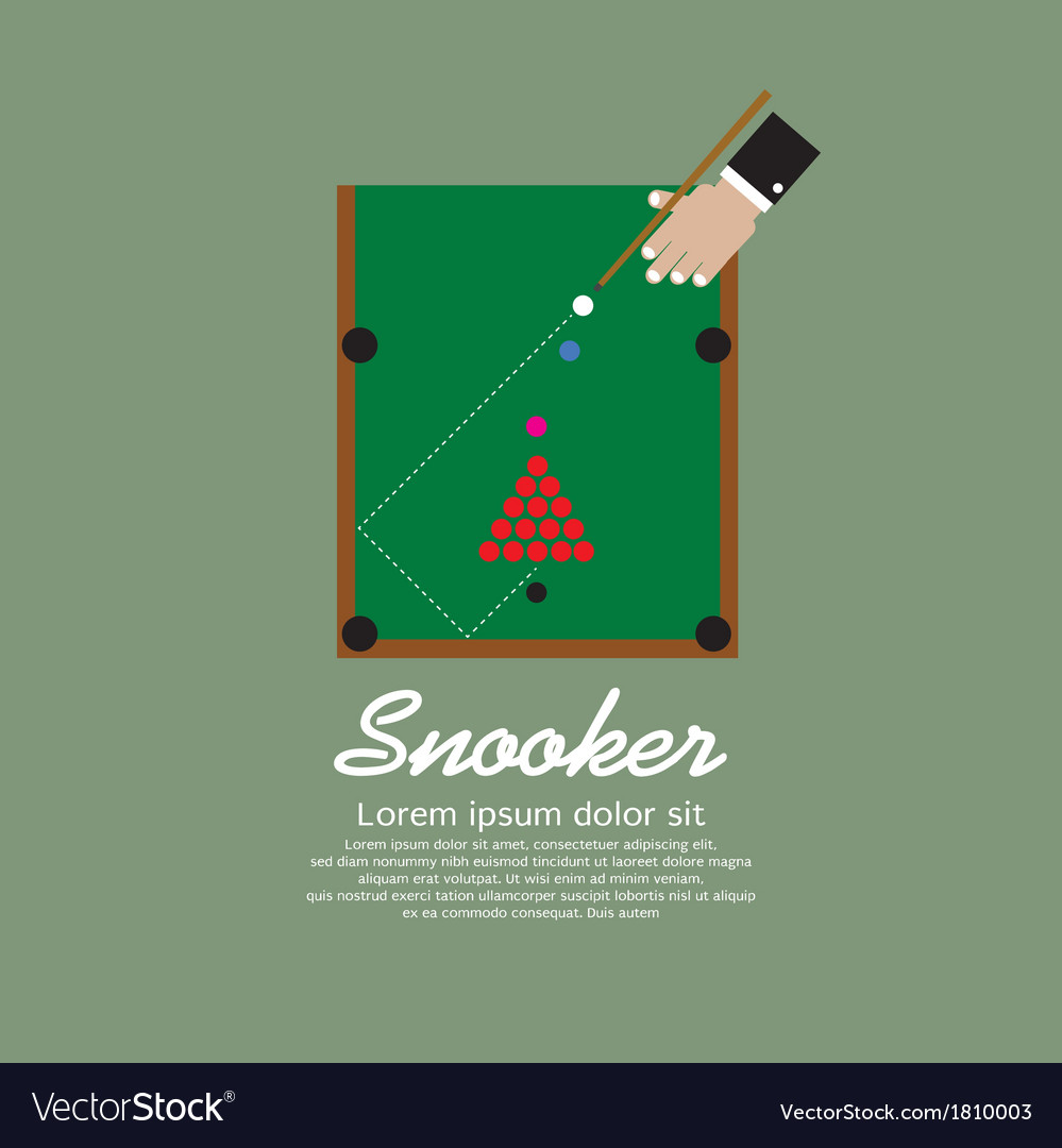 Snooker Playing EPS10 vector image