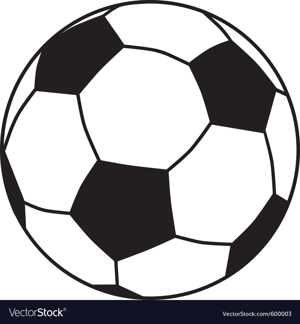 soccer ball royalty free vector image vectorstock rh vectorstock com soccer ball vector drawing soccer ball vector drawing