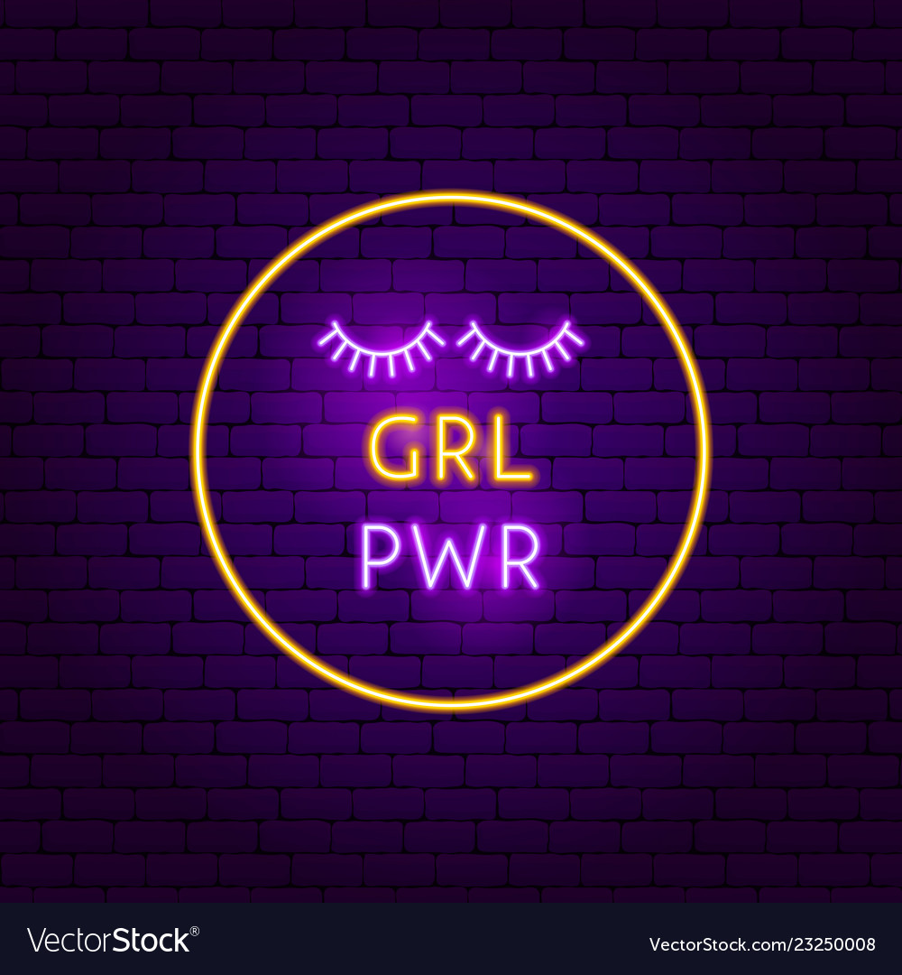 Grl pwr neon sign