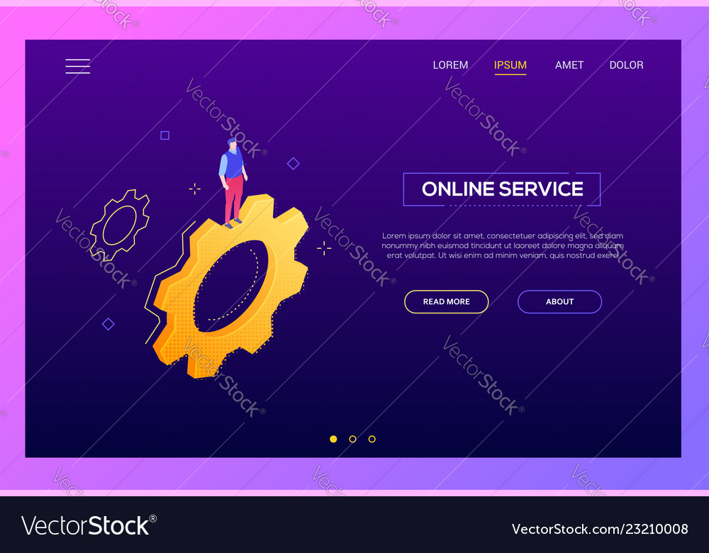 Online service - modern isometric web