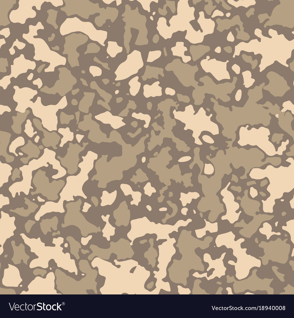 Seamless camouflage pattern with mosaic of