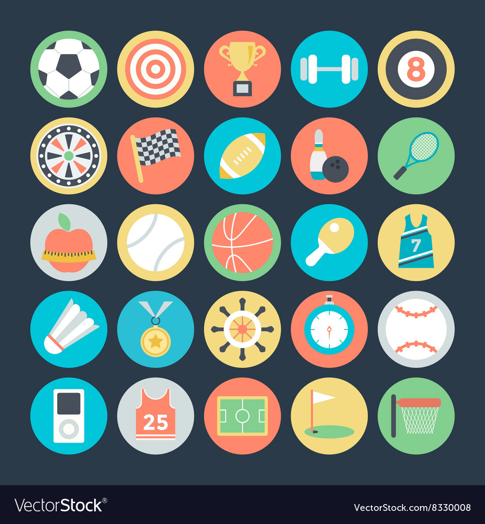 Sports Colored Icons 1