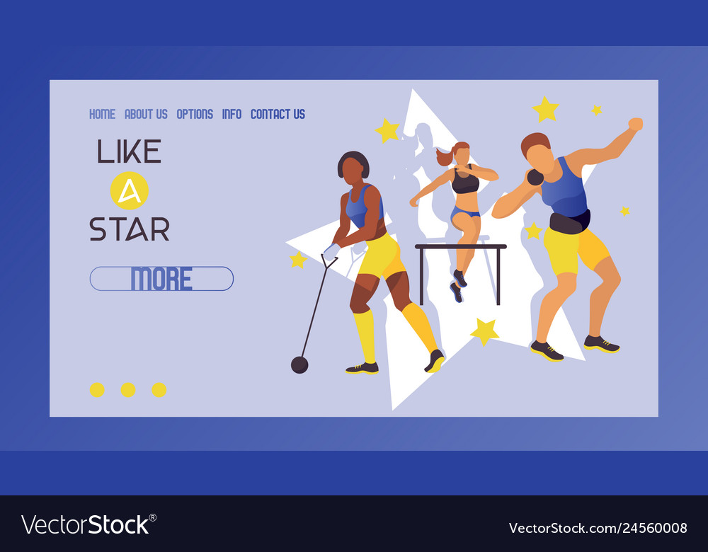 Women athletics banner poster brochure