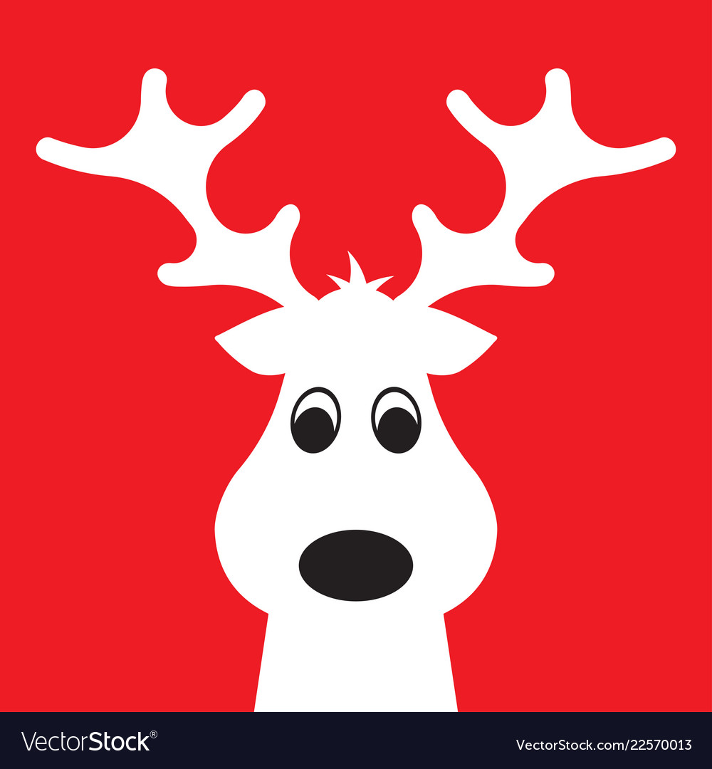 Christmas moose on a red background