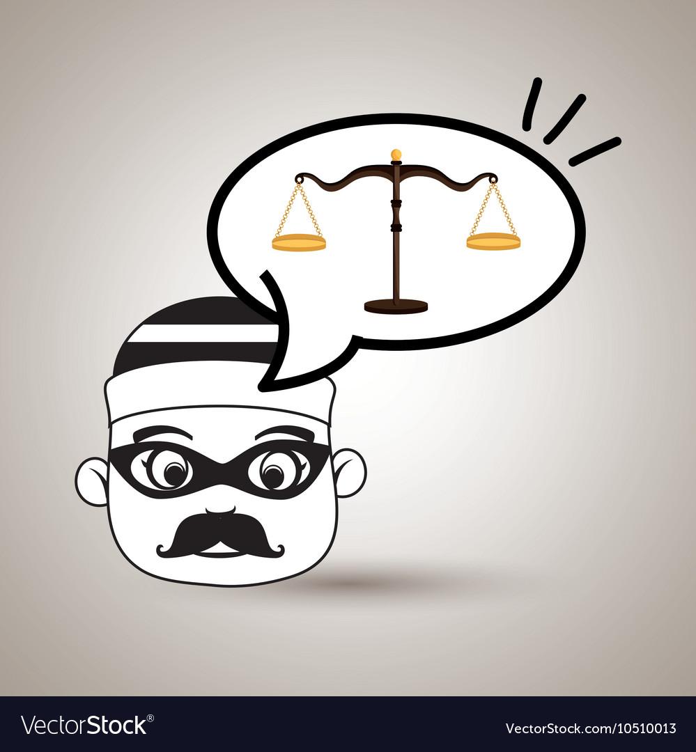 Man criminal law icon