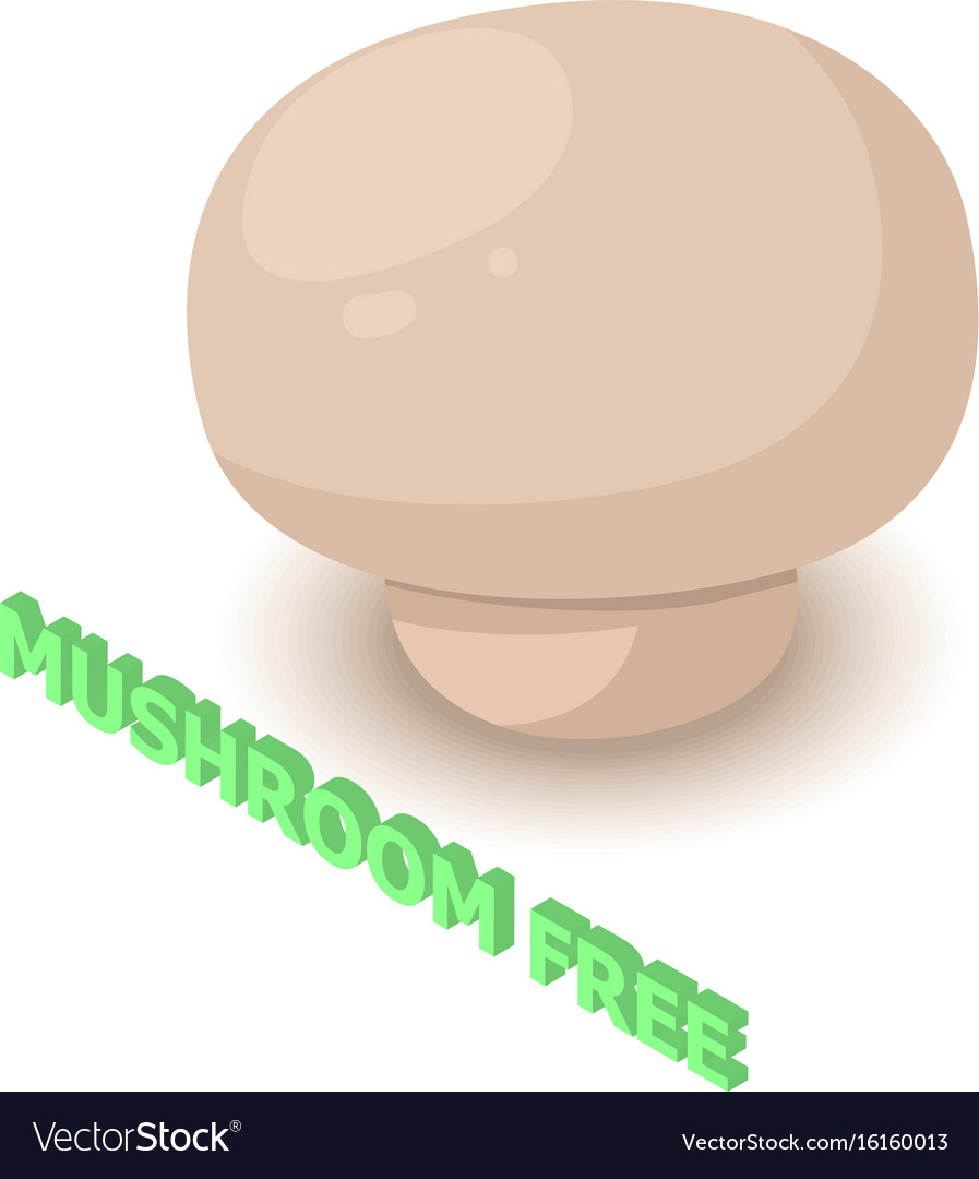 Mushroom allergen free icon isometric style vector image