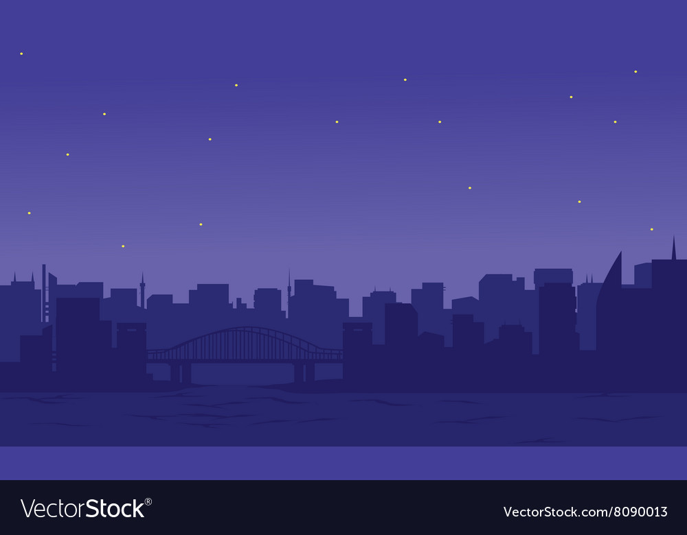 Silhouette of two cities