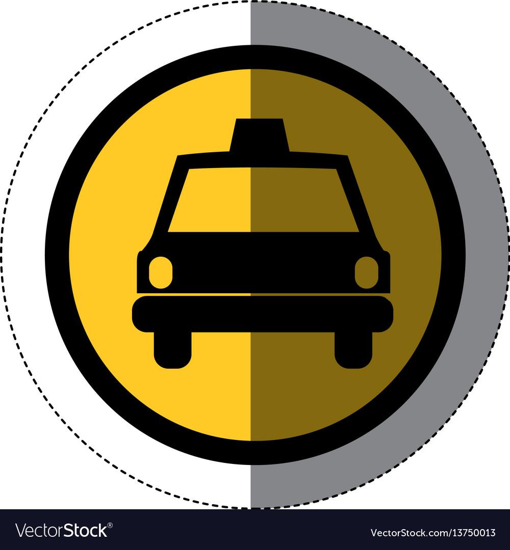 Symbol taxi front car icon