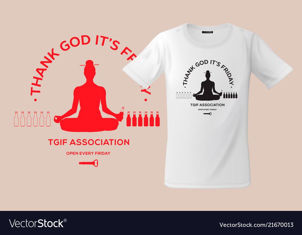 Thank god it s friday print on t-shirts