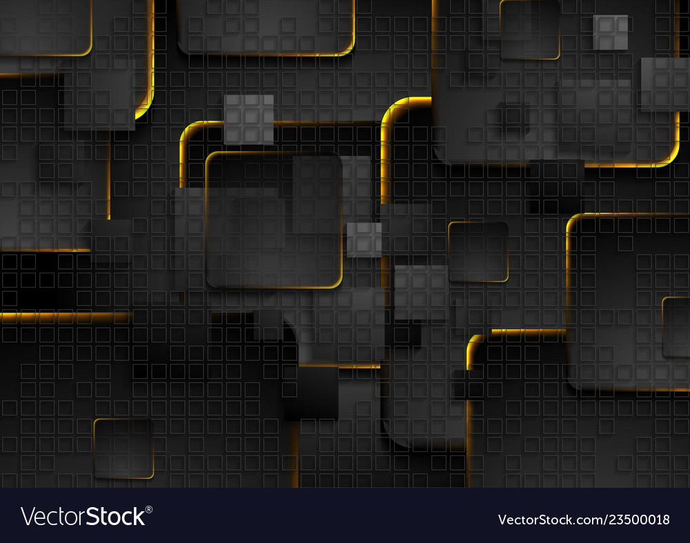 Black squares background with glowing fiery lights