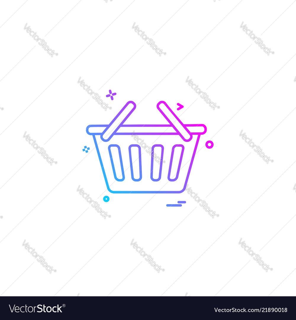 Bsket shopping online cart icon