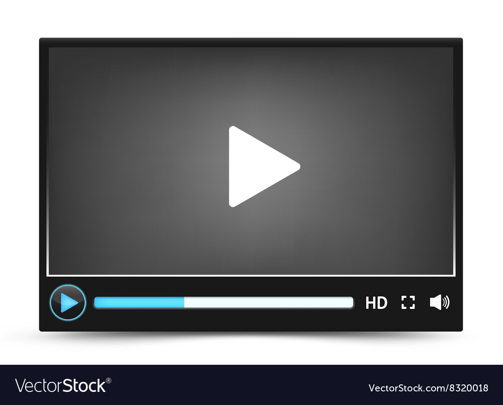 Video player skin royalty free vector image vectorstock.