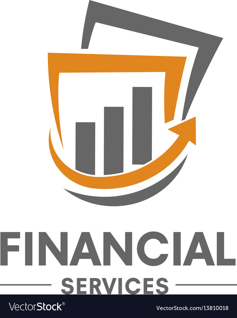 Financial service logo vector image