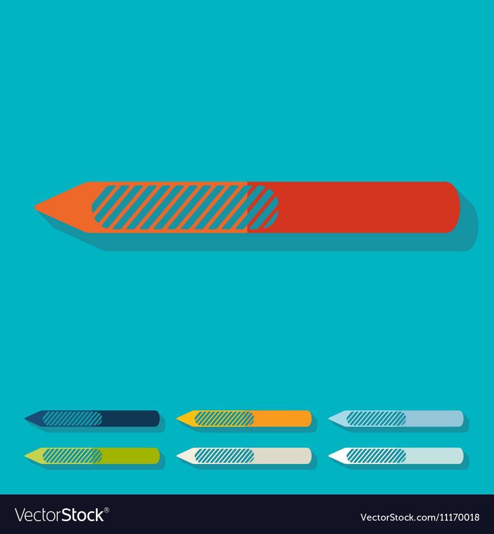 Flat design nail file Royalty Free Vector Image