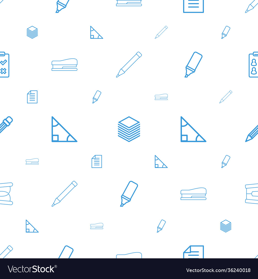 Pencil icons pattern seamless white background