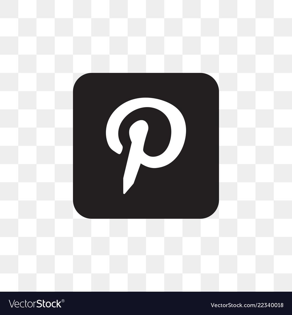 Pinterest Social Media Icon Design Template Vector Image