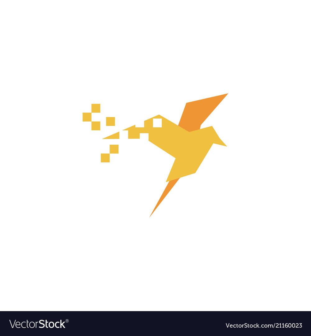 Bird logo icon graphic template