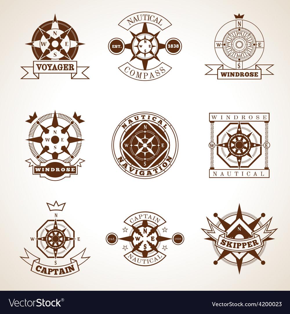 Compass Label Set