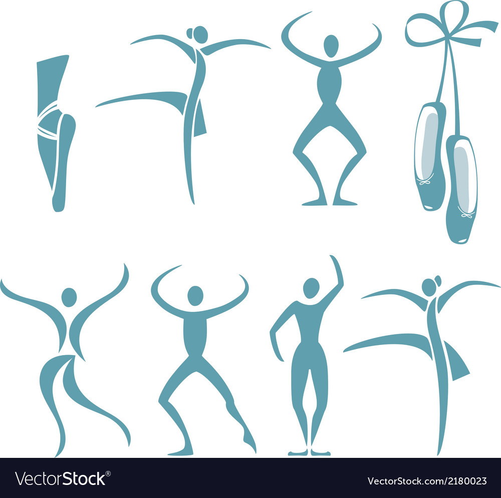 Dance poses vector image