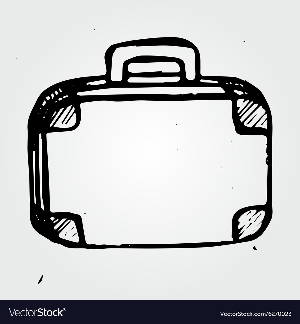 Hand drawn suitcase