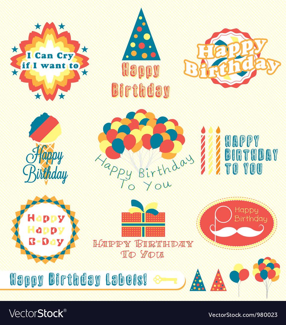Happy Birthday Labels