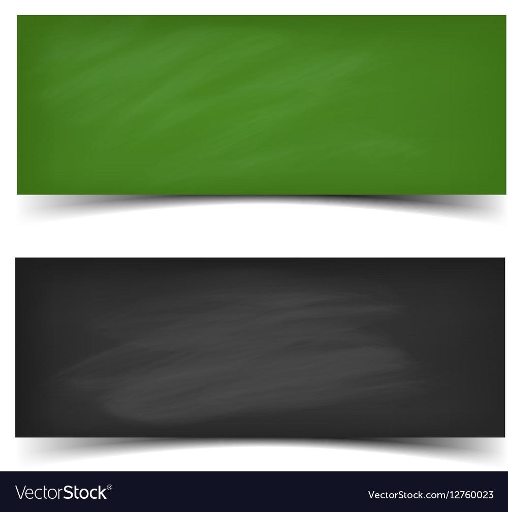 School board banner set