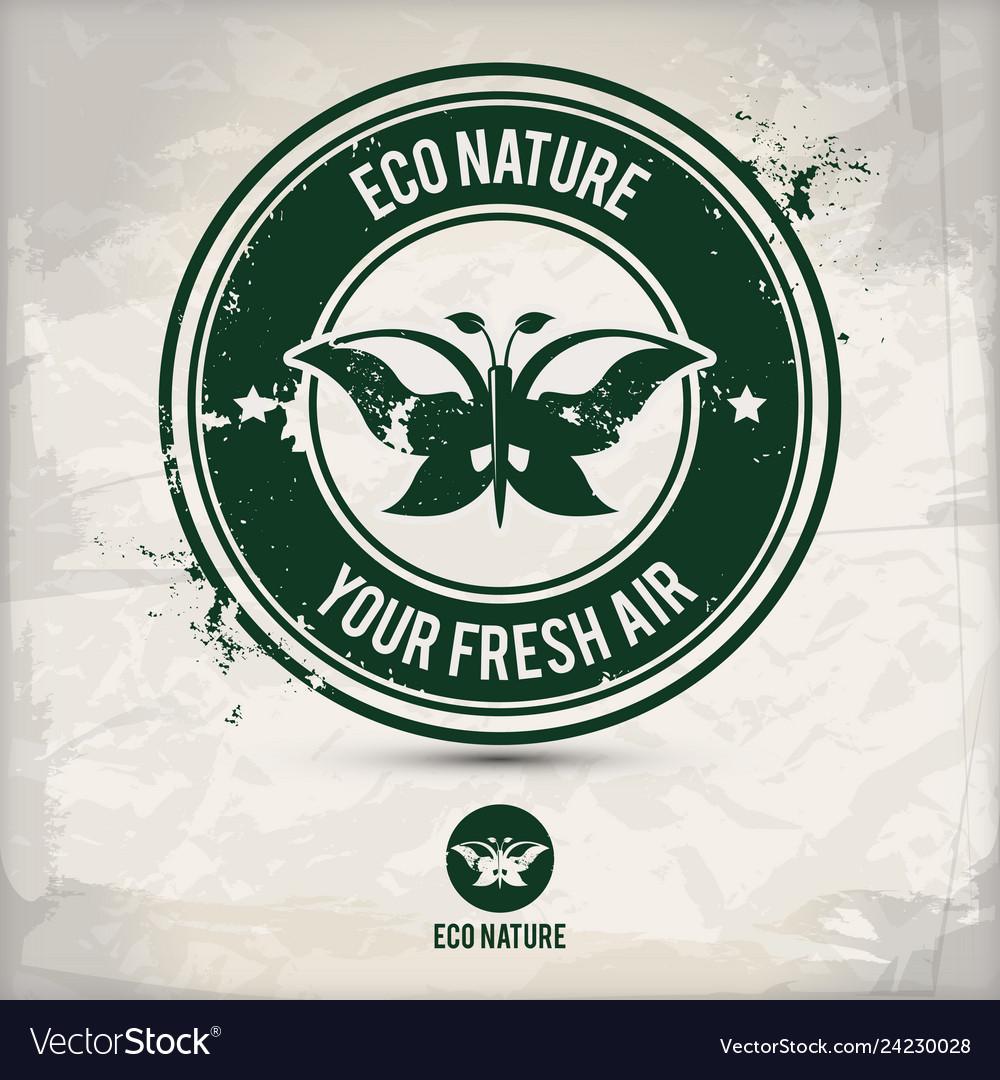Alternative eco nature stamp