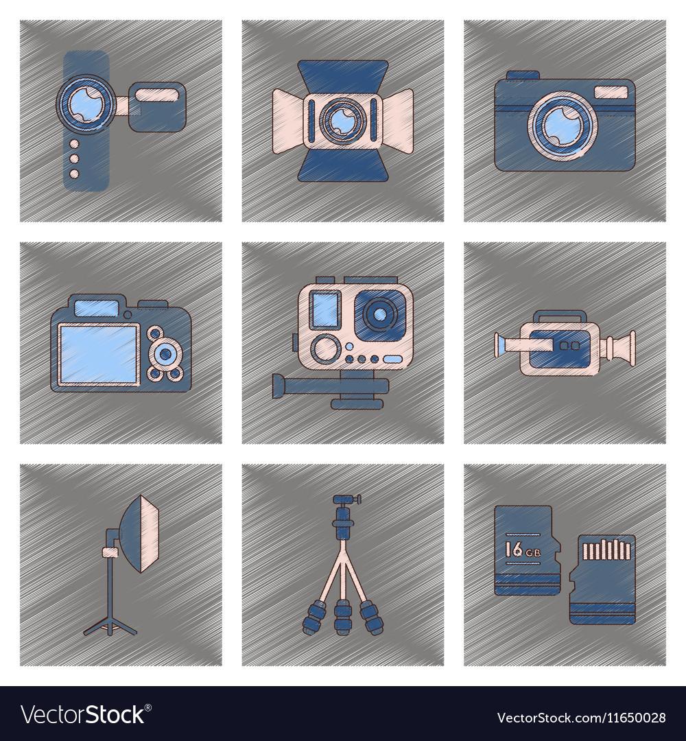 Assembly flat shading style icon multimedia