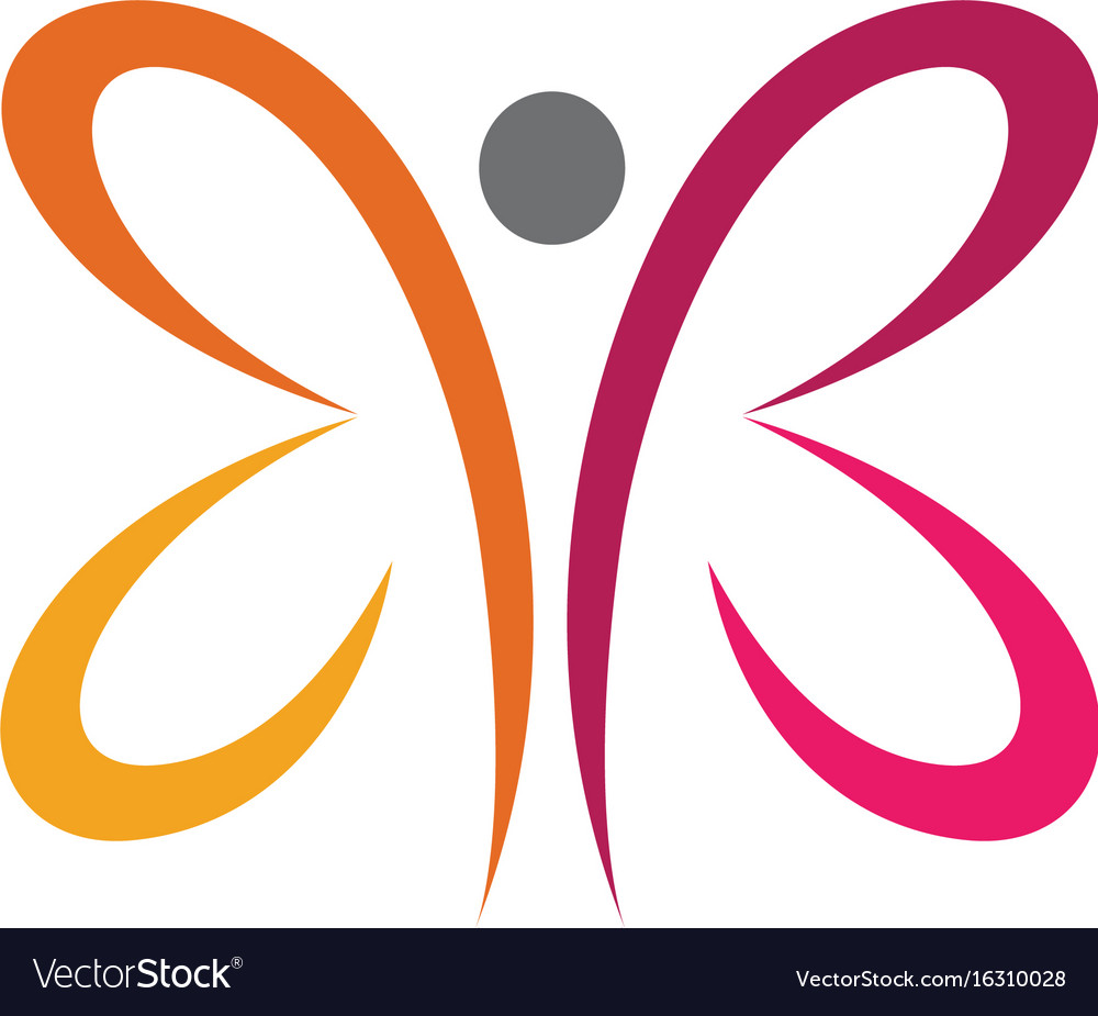 Beauty butterfly logo template icon design