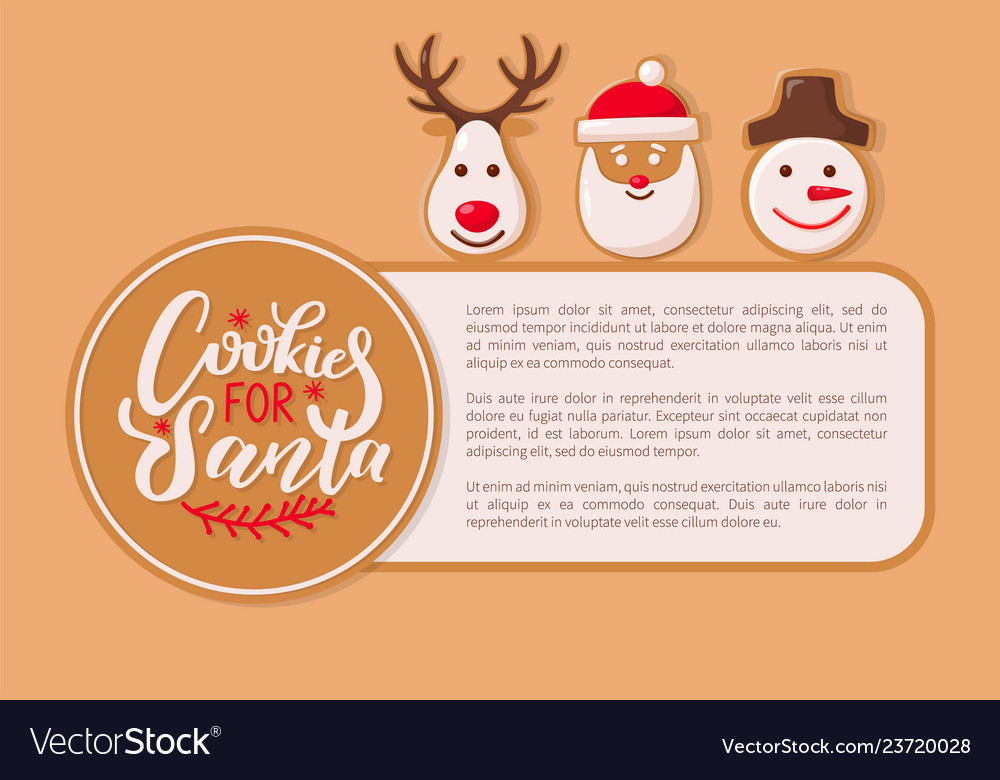 Cookie for santa claus poster with text sample