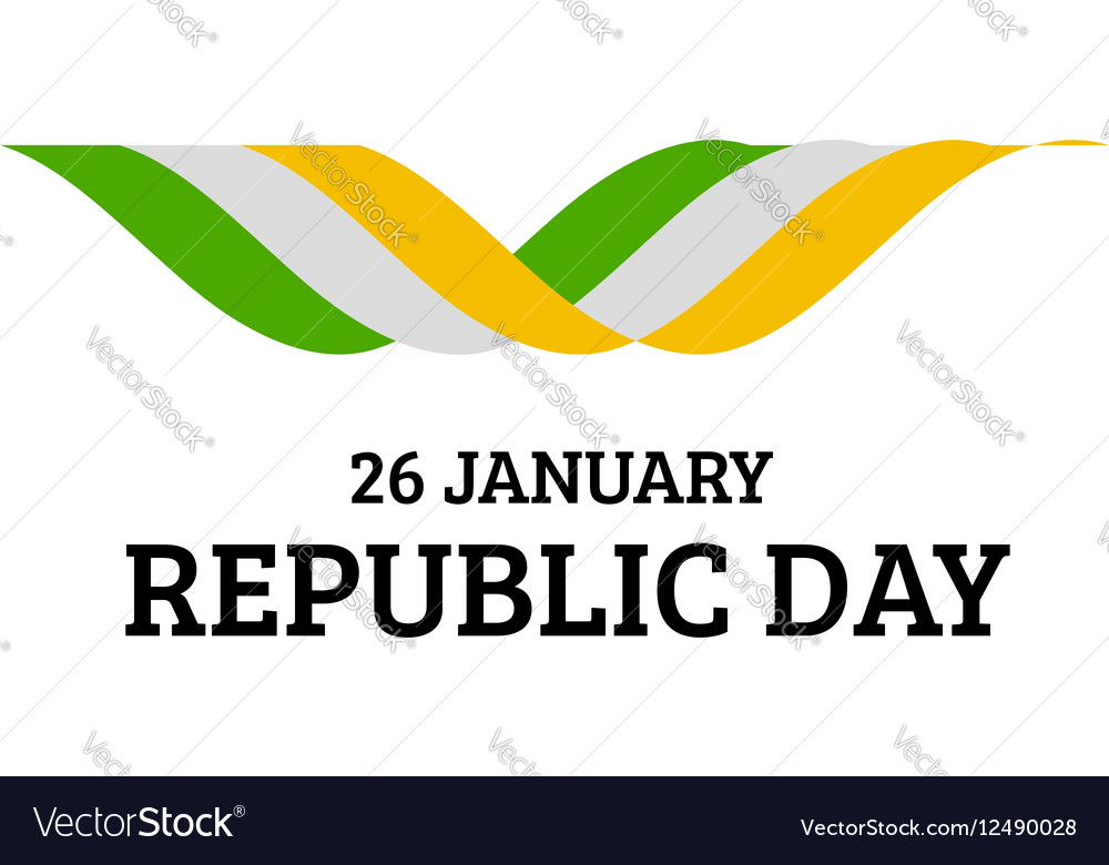 Indian Republic Day background with flag