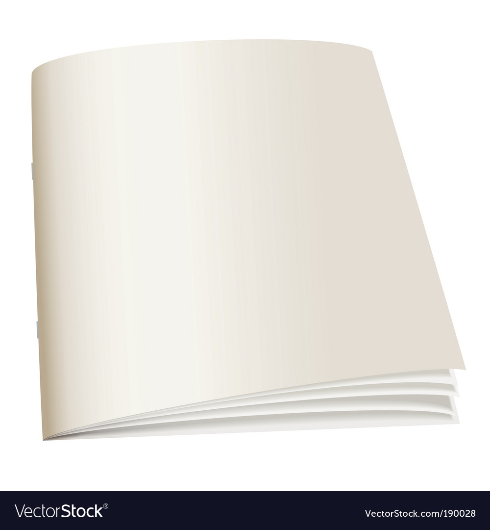 Paperback book vector image