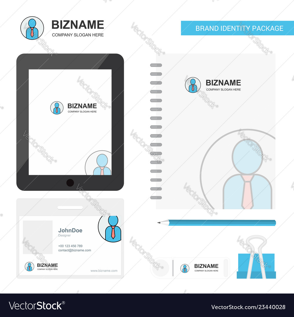 Profile business logo tab app diary pvc employee