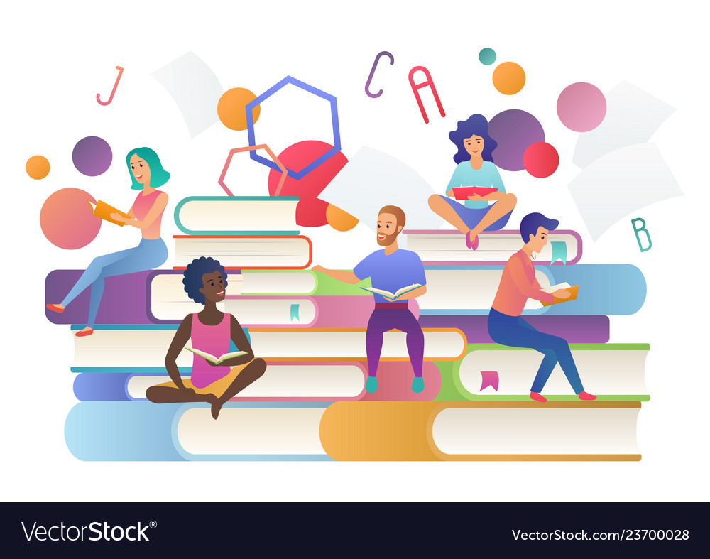 Read books concept education school study and