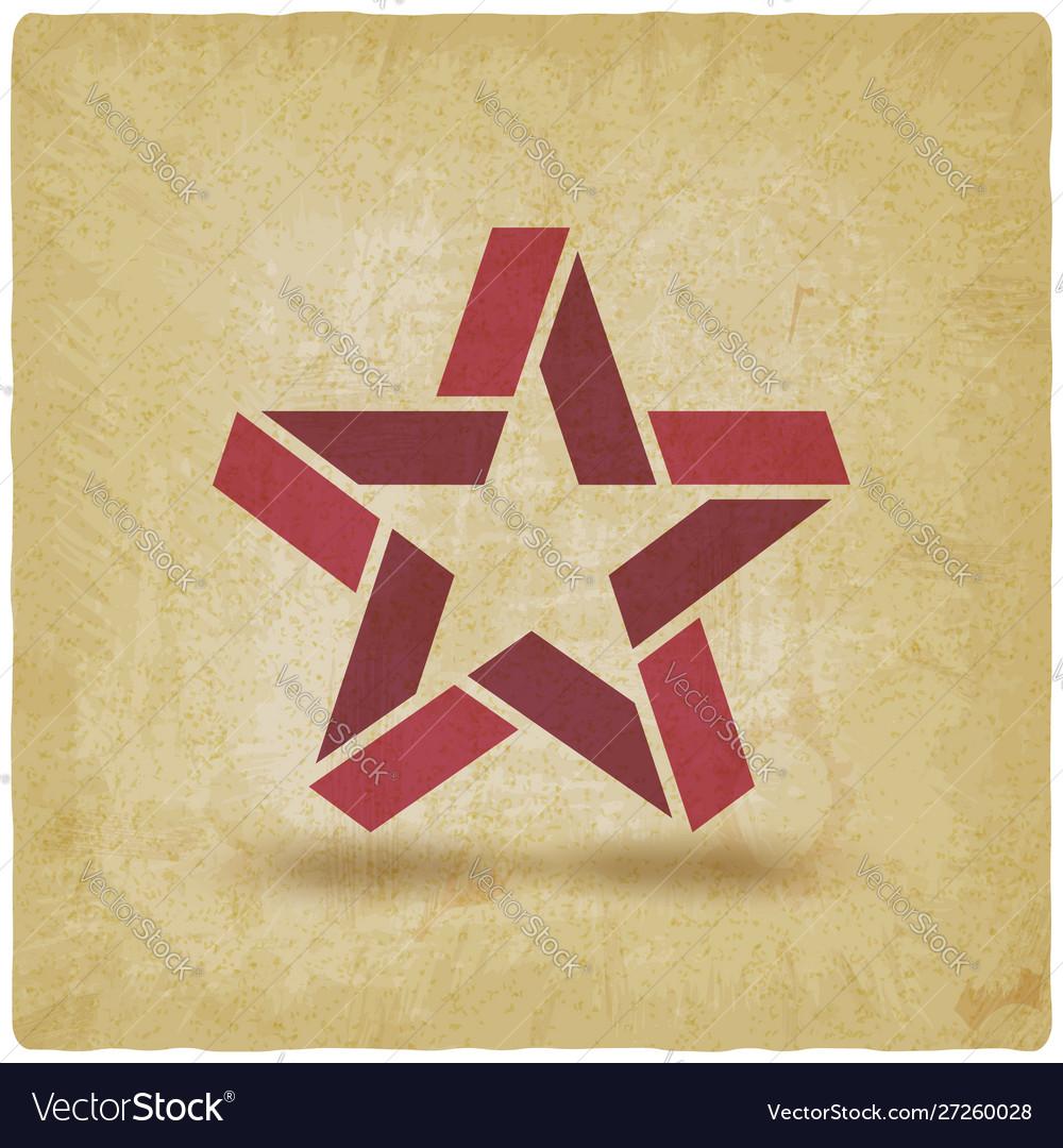 Red star symbol vintage background