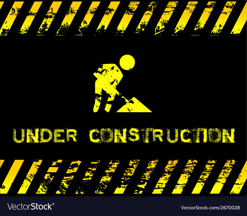 Under construction - grunge with icon