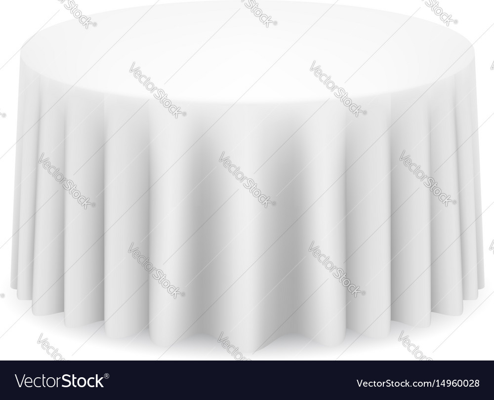 Round Table With Tablecloth.White Round Table With Tablecloth On White