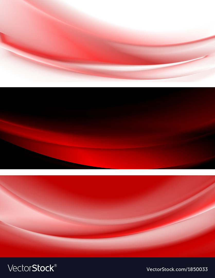 Abstract smooth waves banners