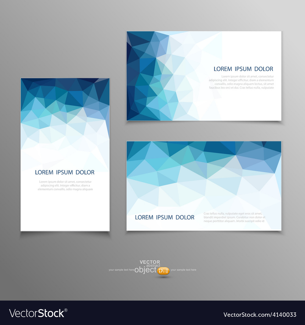 Blue Abstract Business Card Templates Royalty Free Vector