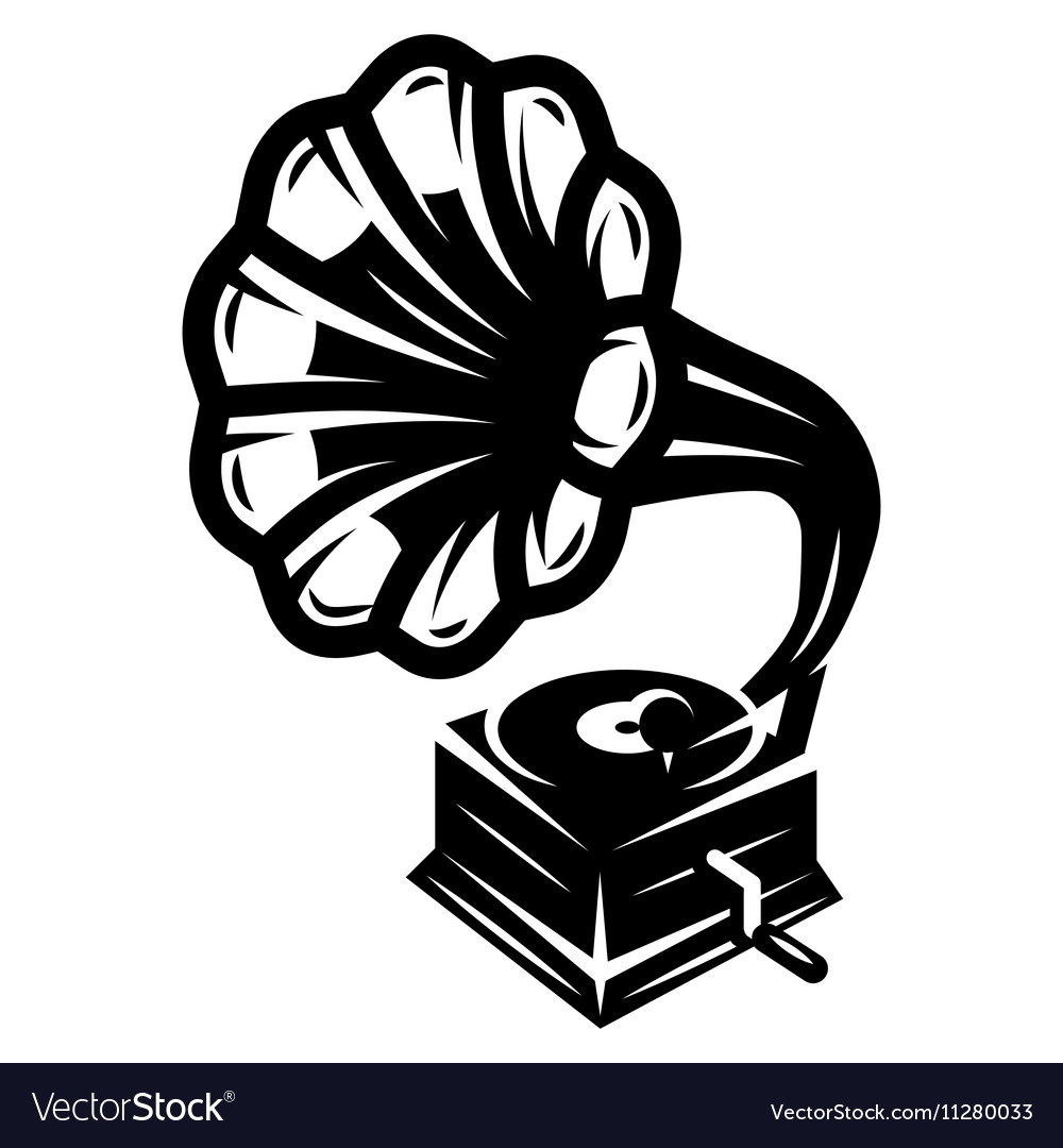 gramophone icon for logo template royalty free vector image vectorstock