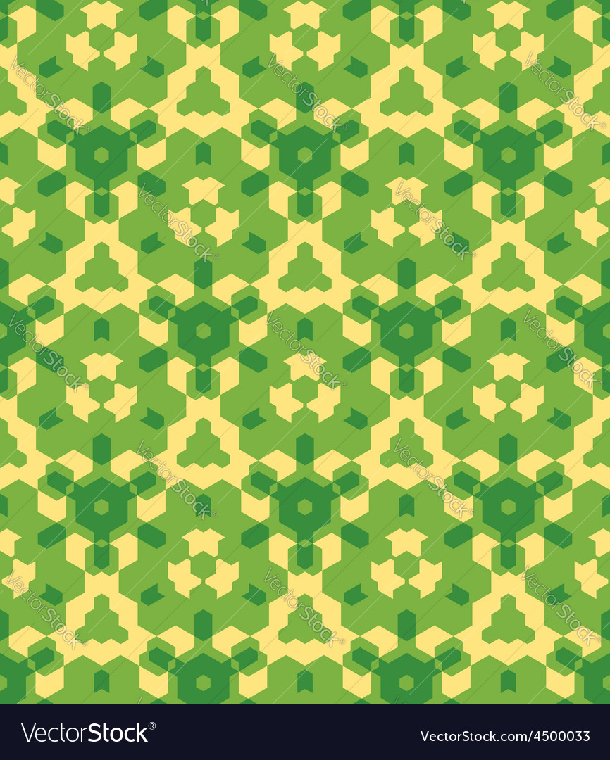 Green yellow color abstract geometric seamless Vector Image