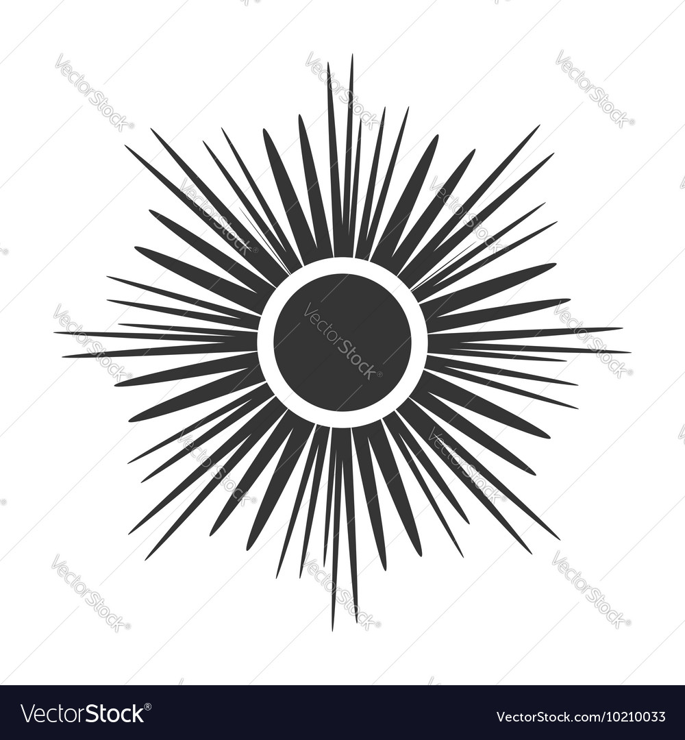 Sun icon Light sign sunbeams Gray design