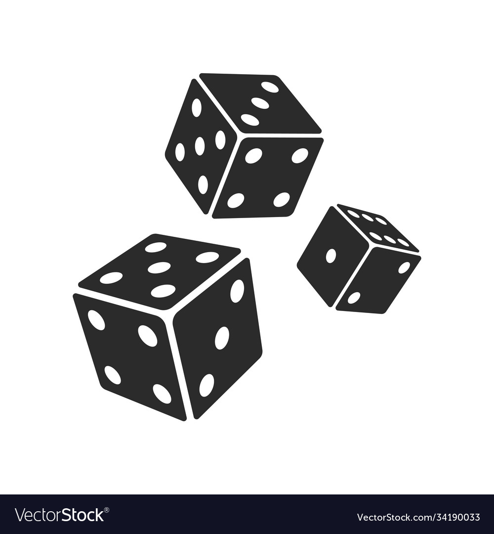 Three dices icon images