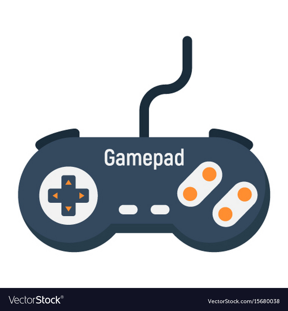 Gamepad flat icon console and joystick