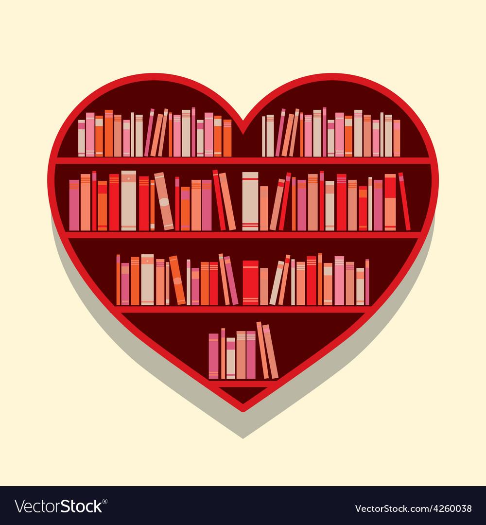 Heart Shape Bookshelf On Wall